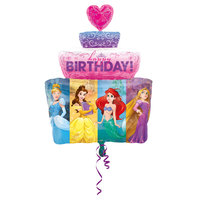 Folieballong Happy Birthday Disney Prinsessor