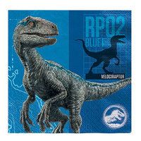 Servetter Jurassic World Blå - 20-pack